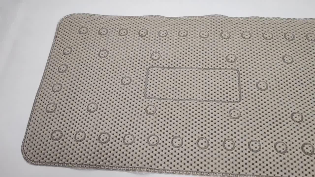 PVC 폼 친환경 흰색 흡수성 비 슬립 목욕 매트