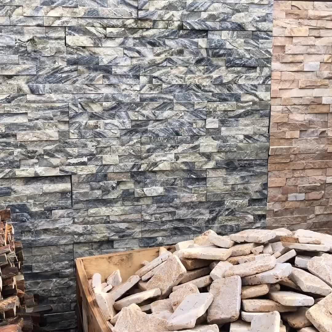 Professionale Naturale Ardesia Lavagna Piatto Nero Impiallacciatura di Pannelli Per La Decorazione Esterna