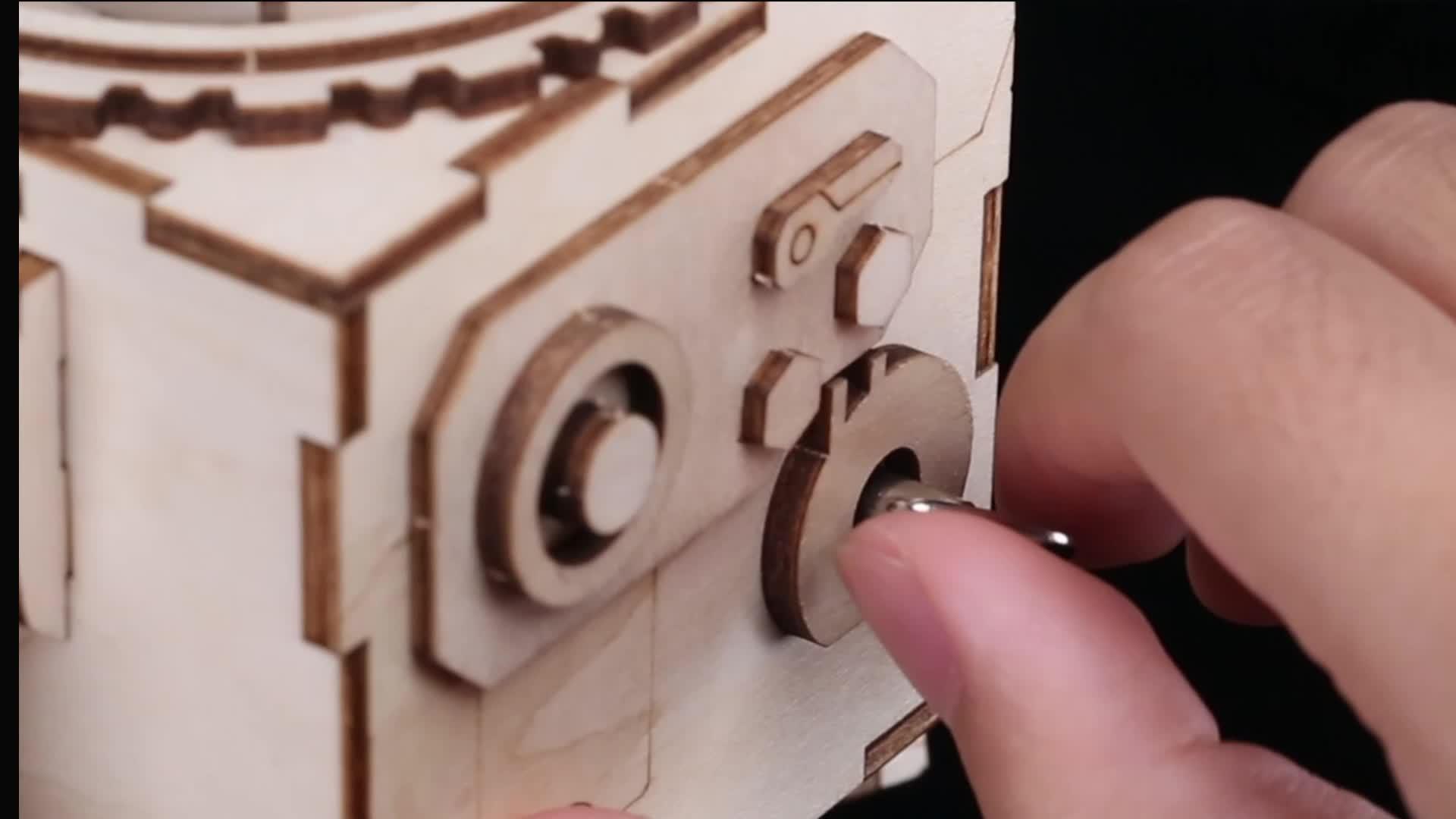 Pabrik Orpheus DIY Music Box Laser Cut 3D Puzzle Kayu
