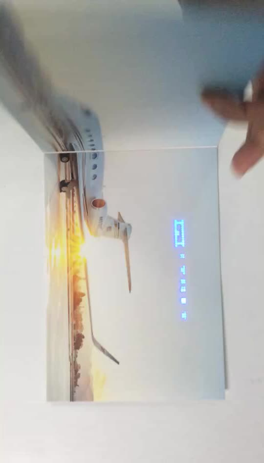 Popular LED Light Advertising Personalized Greeting Card Video Brochure