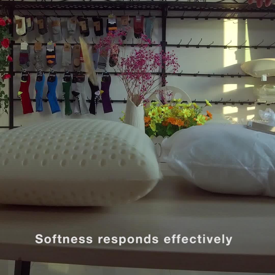Cu-094 China Manufacturer Talalay Natural Latex foam Pillow for Export&Import