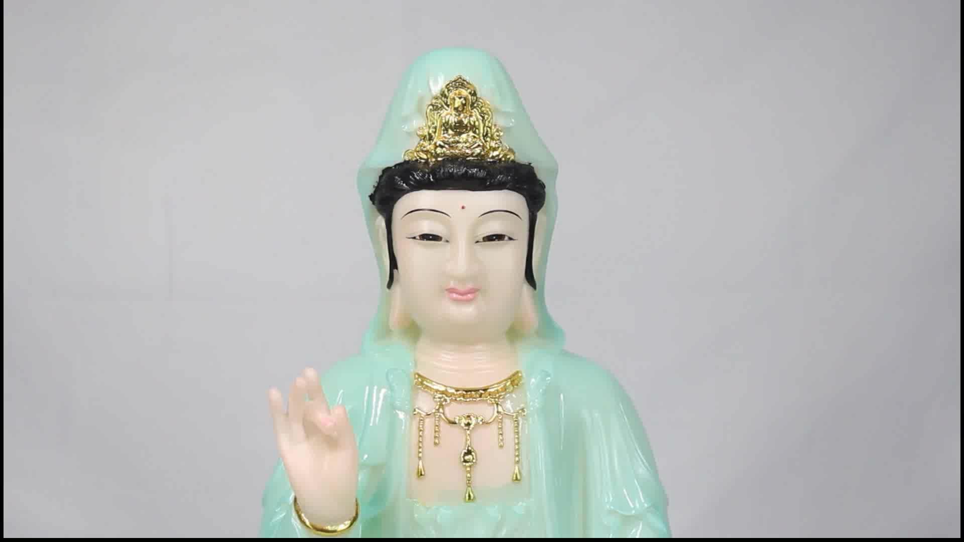 Hot Sale Branco Decoração Do Jardim Grande Antiga Estátua de Buda de Jade Verde para a Venda