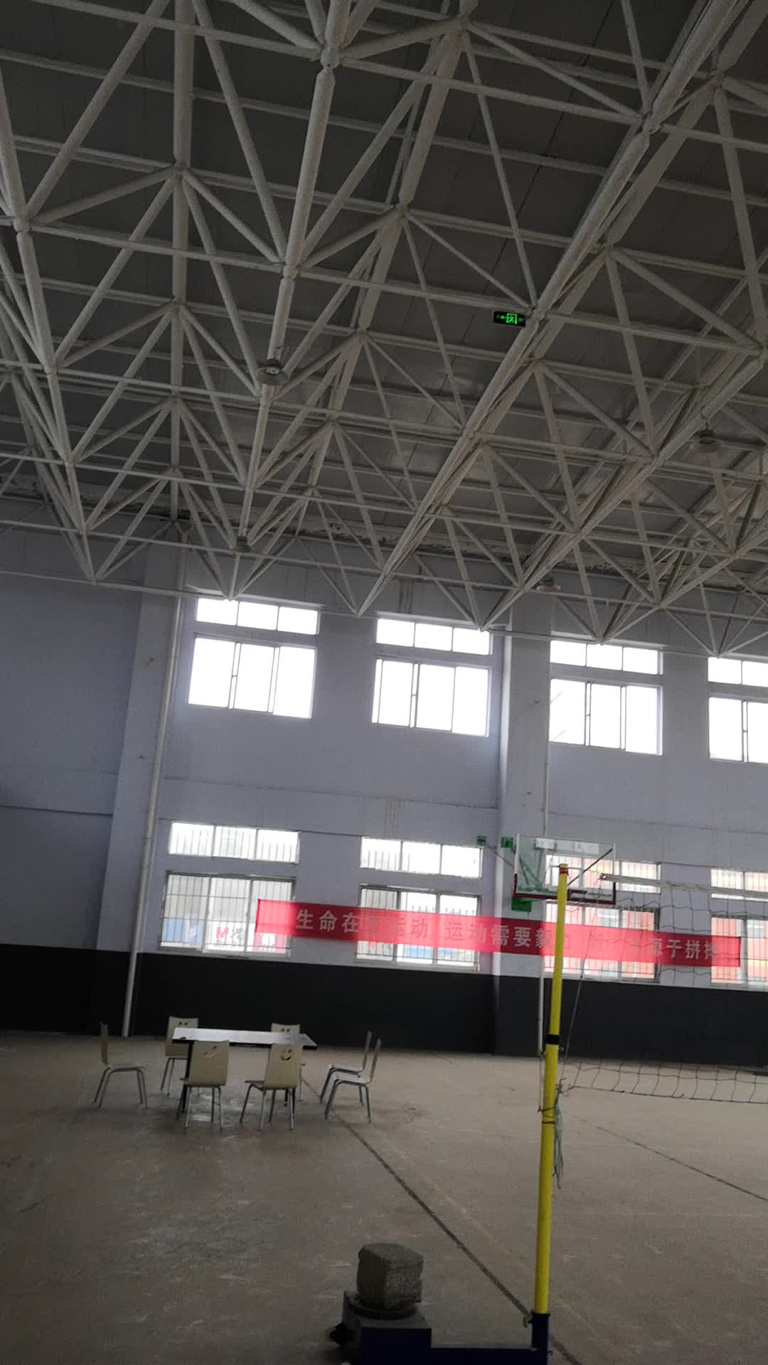 steel structure space frame for tennis court  truss structure skylight