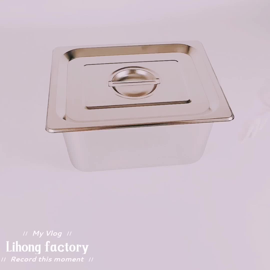 Wholesale 1/2 Size Stainless Steel Anti-Jam Standard Weight Steam Table Pan Hotel GN Food Pans