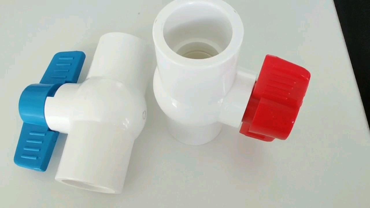GT 공장 뜨거운 판매 UPVC/PVC 볼 밸브 급수 컴팩트 또는 팔각형 밸브 소켓/스레드 엔드
