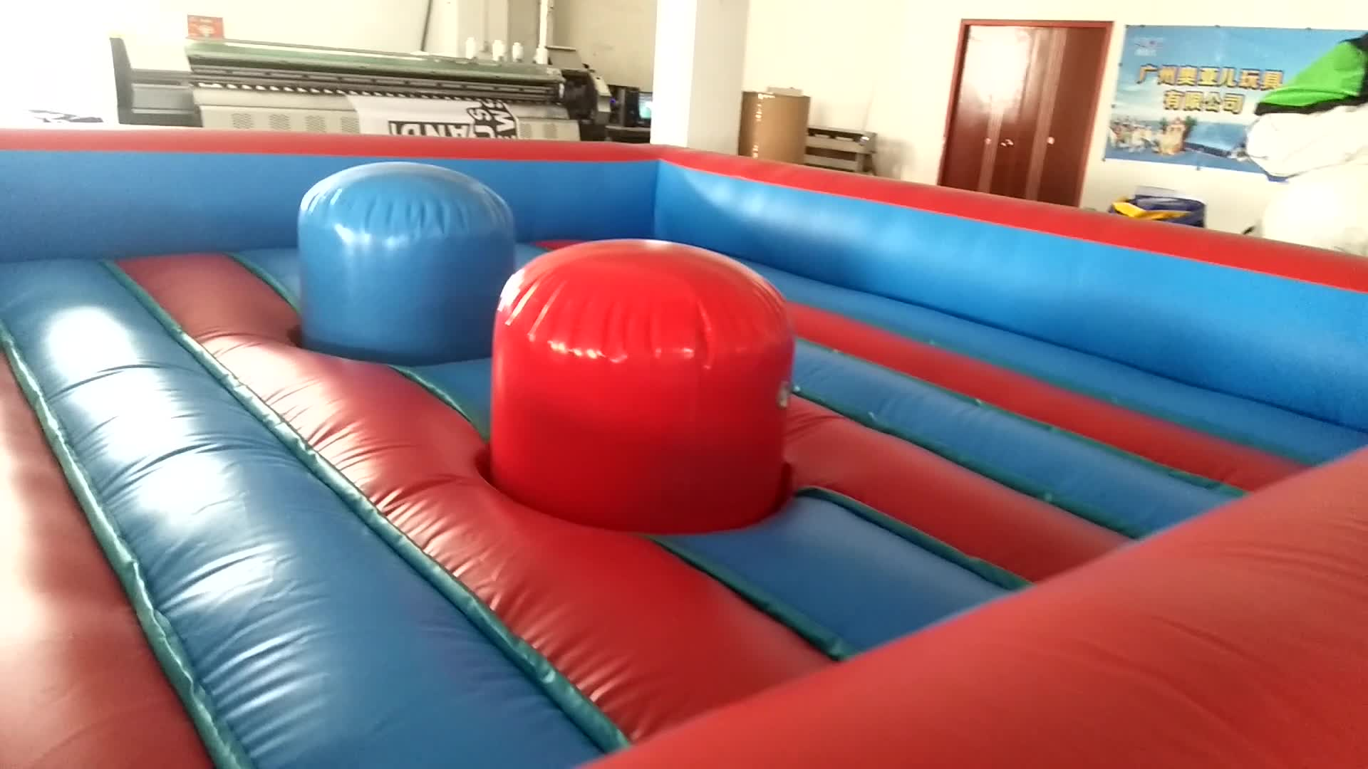 Outdoor Indoor Exciting Game Inflatable Jousting Gladiator Arena with Custom Color