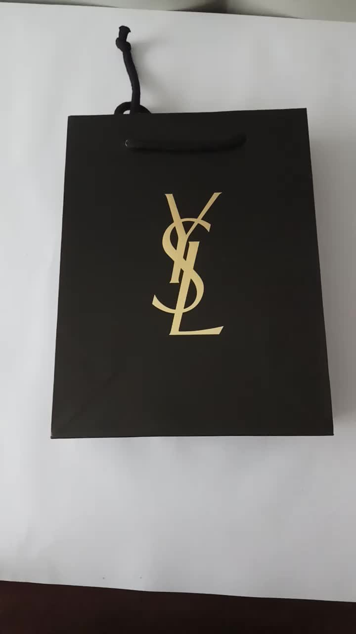 Luxury paper shopping bag with logo, Shopping package paper bags