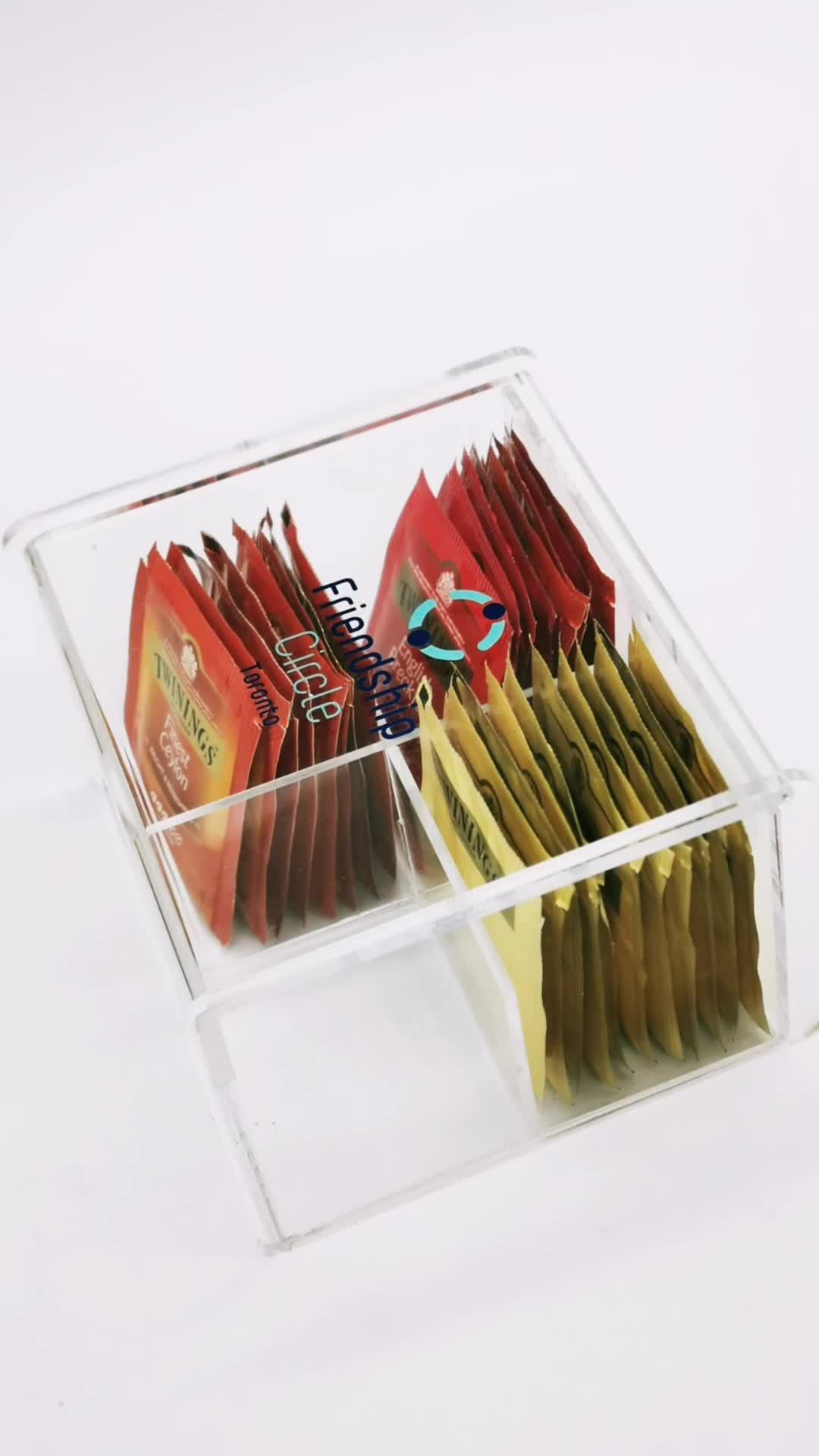 2021 nouveau design personnalisé clair acrylique porte-capsule de café boîte pour amazon