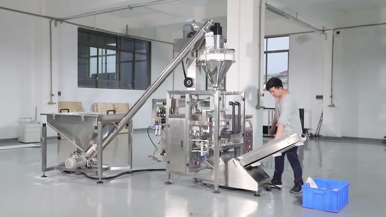 Paslanmaz Çelik Dikey Formu Doldurma Sızdırmazlık Paketleme Makinesi Un, Kahve Tozu, Deterjan Tozu