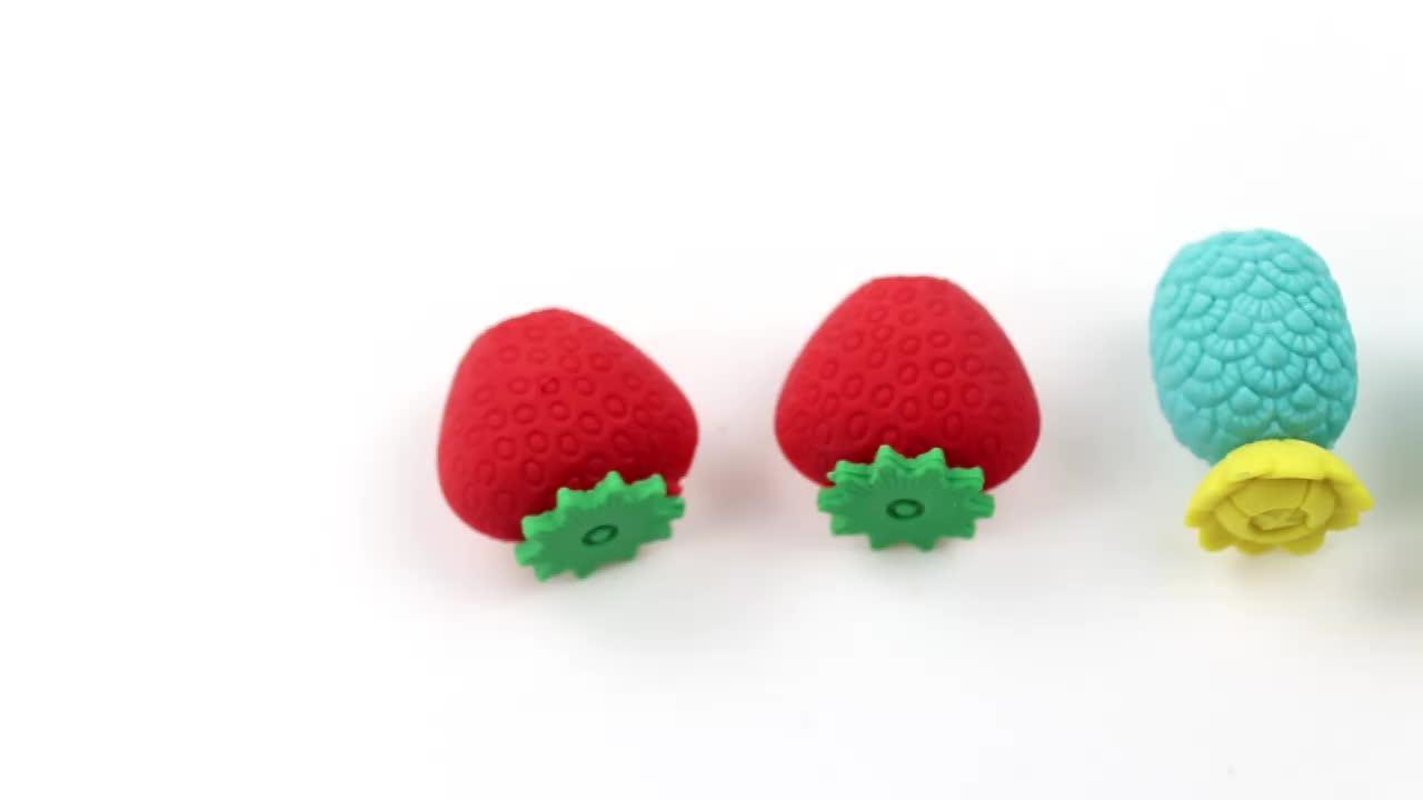 Назад в школу рекламные TPR резиновые Милые 3D DIY Kawaii карандаш ластик