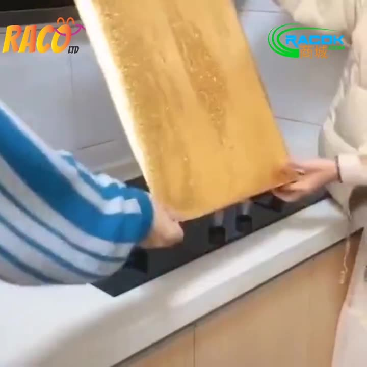Kitchen anti fouling high temperature self adhesive wall oven aluminum foil oil resistant sticker