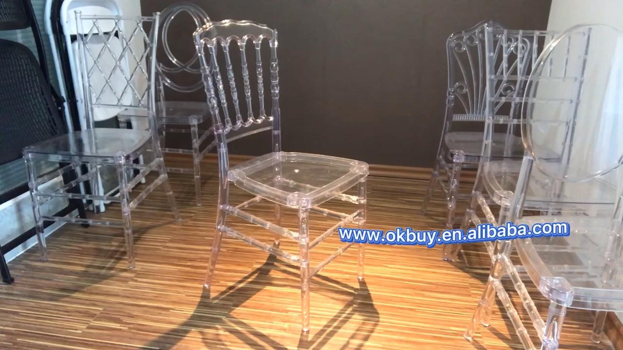Limpar transparente chiavari cadeiras trono napoleão banquete de casamento de luxo com preço barato