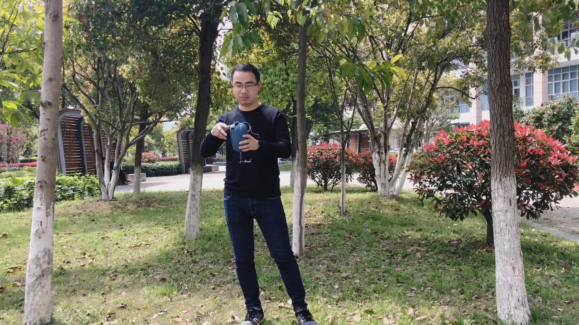 2 Persona al aire libre con árbol correa de paracaídas de Nylon hamaca