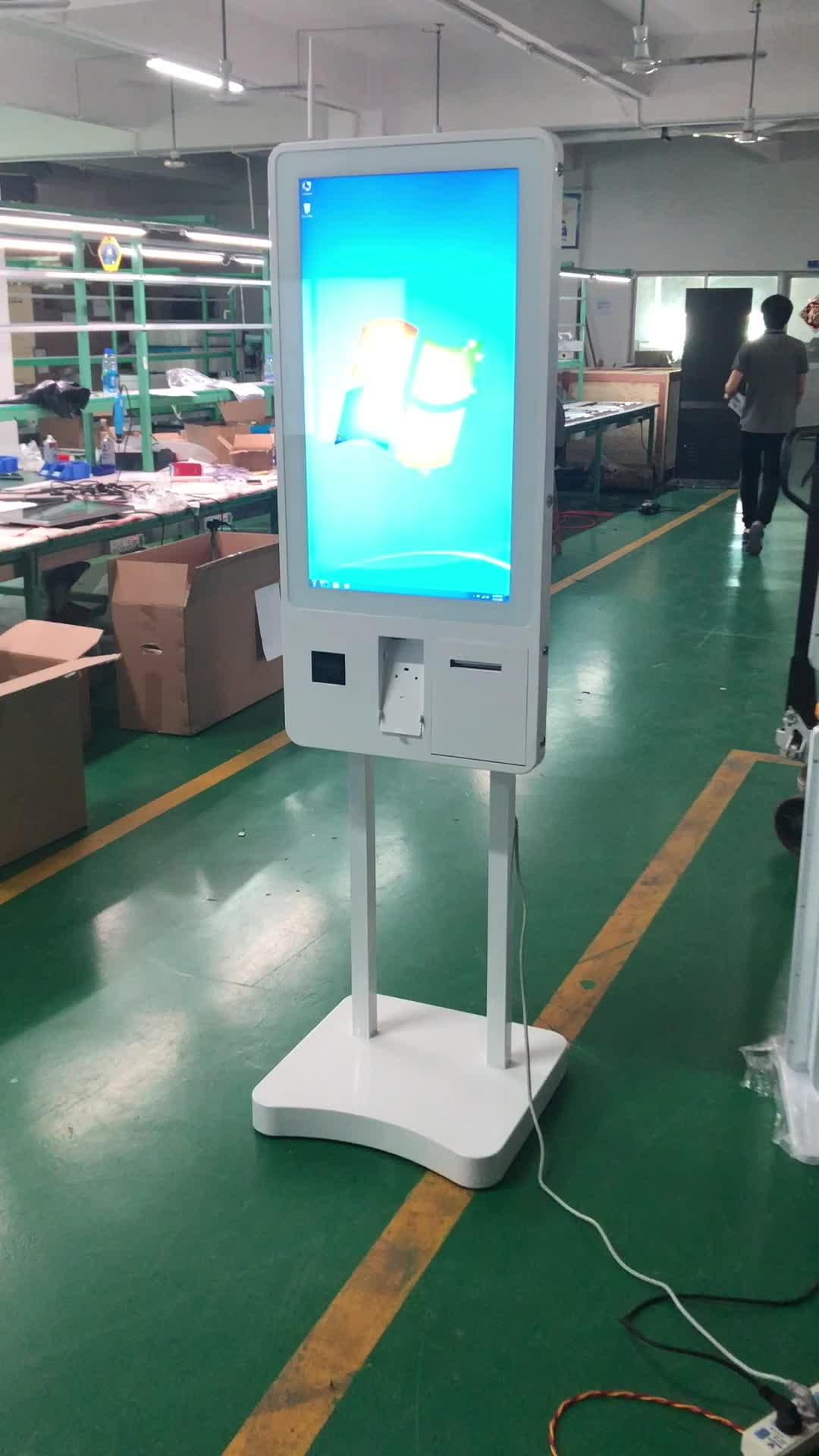 """Kiosque interactif de paiement de terminal libre-service de kiosque d'écran tactile de 32"""""""