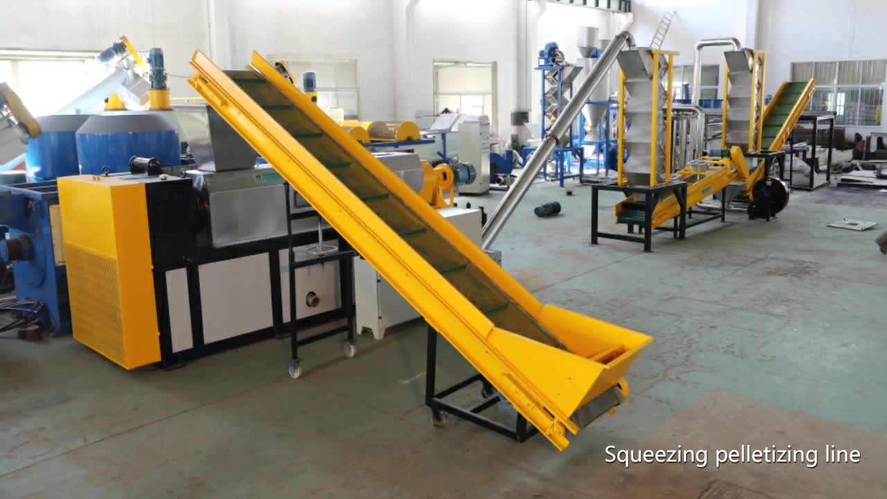 pp pe hdpe ldpe film/bags squeezing dryer and pelletizing machine/plastic recycled granules
