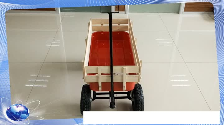 Popular Playing Four Wheels wooden Material Toy Wagons for kids