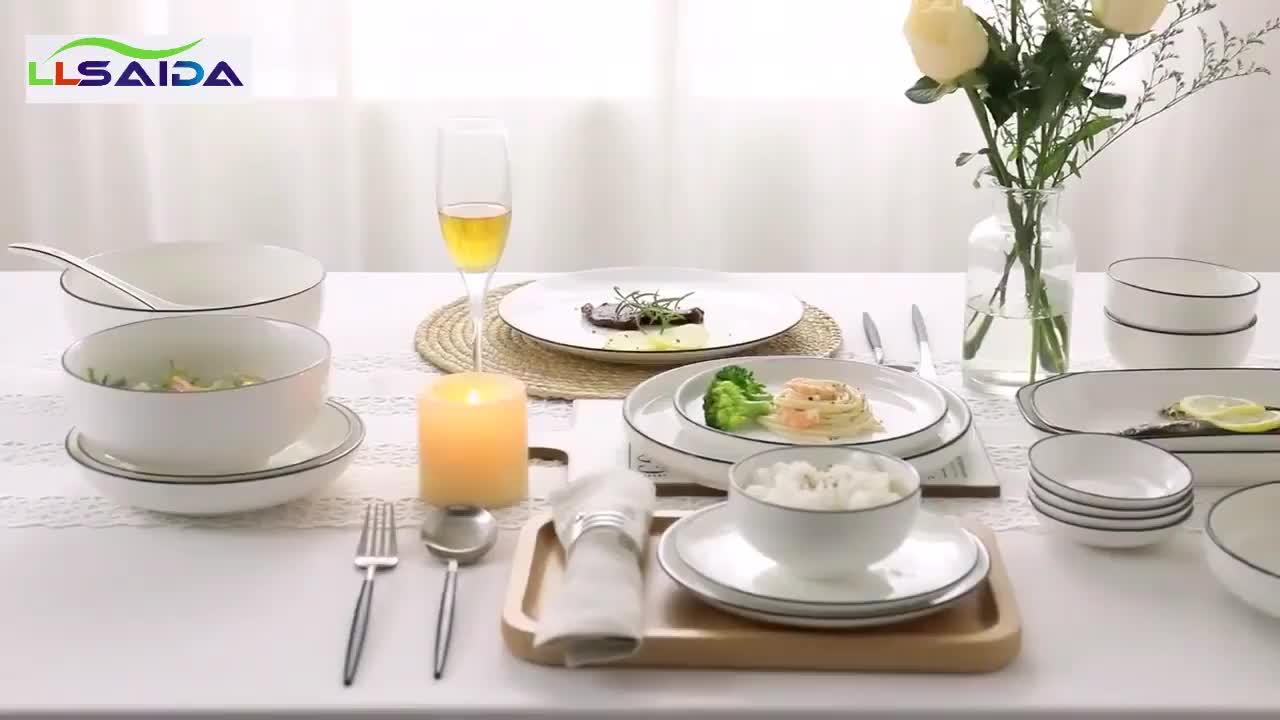2019 Nuovo Stile di Ceramica Zuppa di Riso Nuovo Osso Ciotola di Porcellana Per Uso Domestico