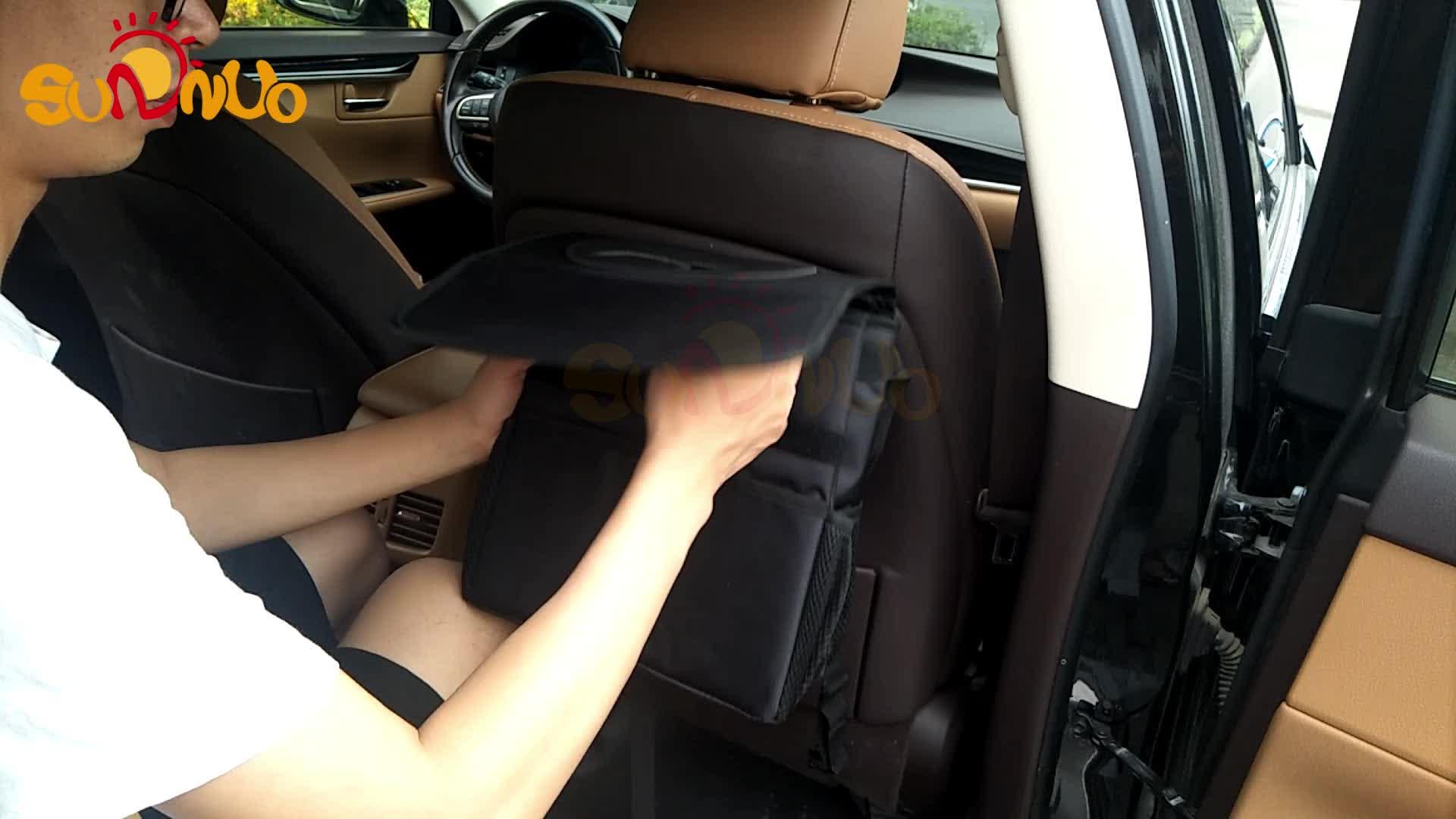 Auto-Mülleimer mit Deckel, 100% dicht, faltbarer gewichteter Auto-Mülleimer