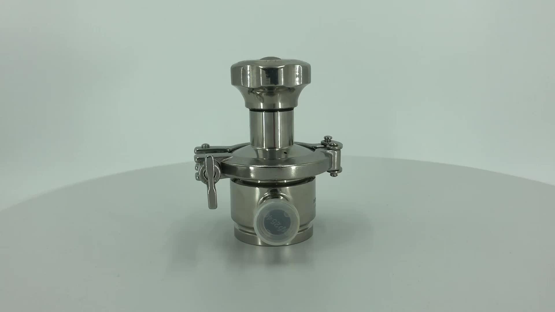 Stainless steel sanitary manual radial tank bottom diaphragm valve