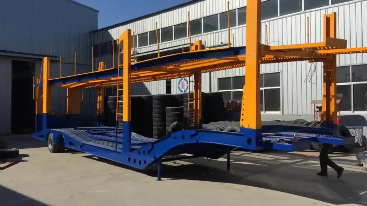 2 or 3 Axle 25-60 ton Semi Trailer Car Carrier Truck For Sale
