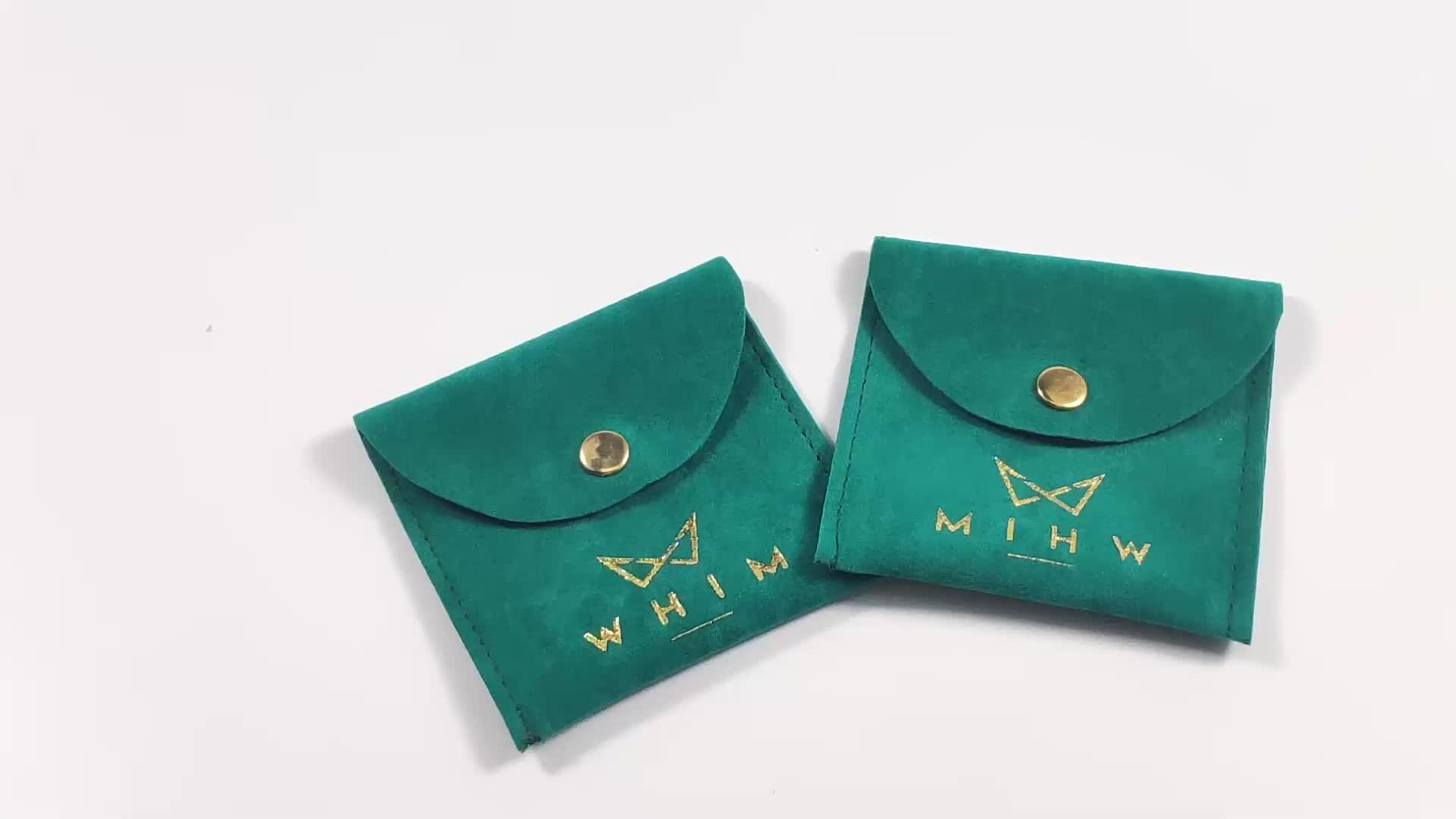custom jewelry pouches with logo necklace bag