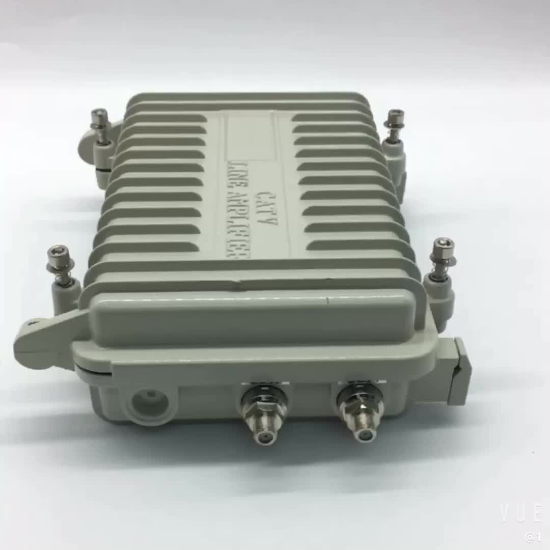 High quality factory price  Outdoor Trunk catv signal Amplifier 30db with 2 rf output