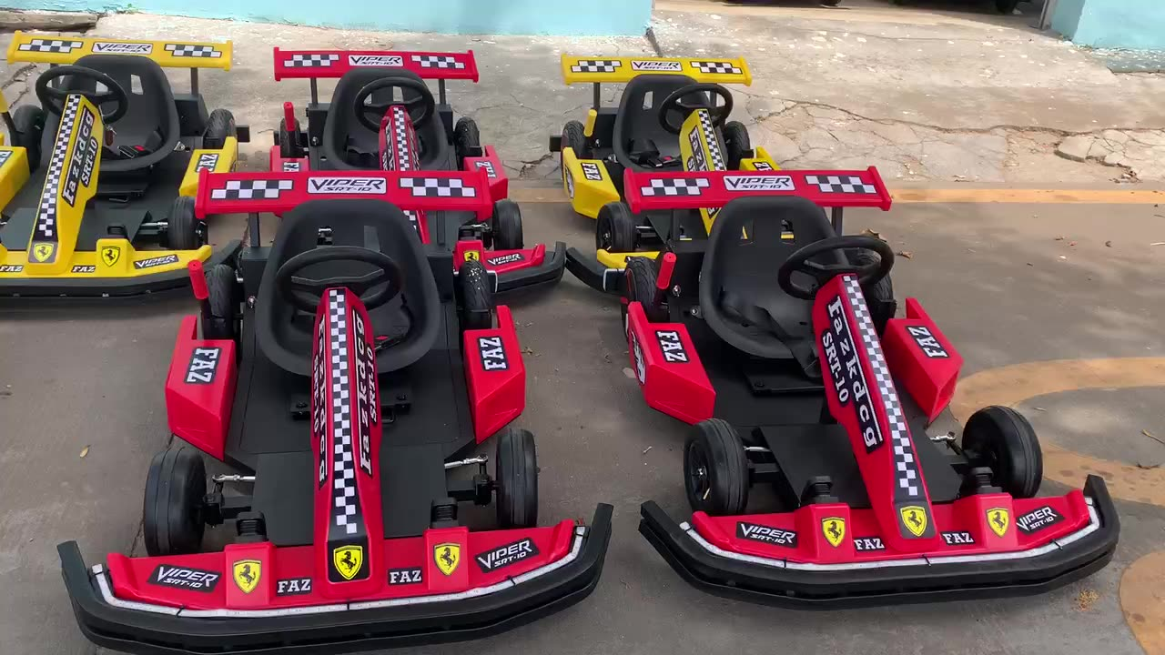 red go karts drift bumper car racing game electric karting cars for sale