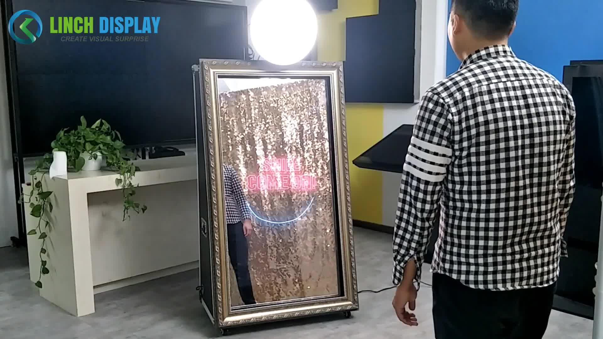 Casamento 65 de polegada Câmera espelho mágico photobooth