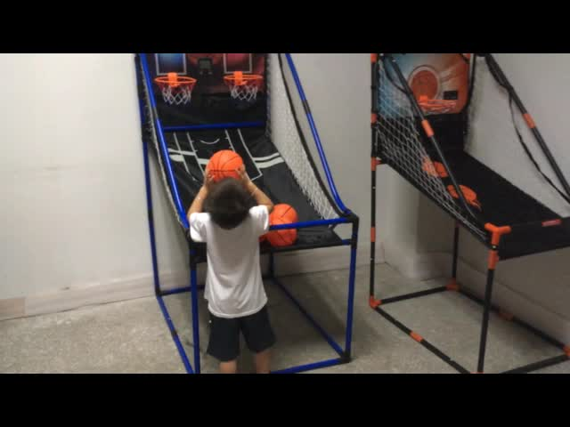 Indoor Games PVC Tube Basketball Shooting Machine