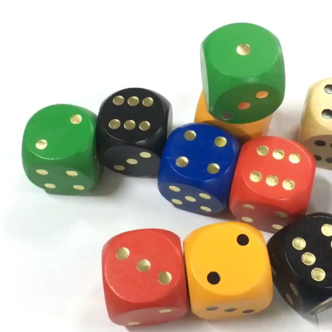 YF-L0207 factory direct custom printing 50mm wooden dice colorful sexy dice customized dice for game