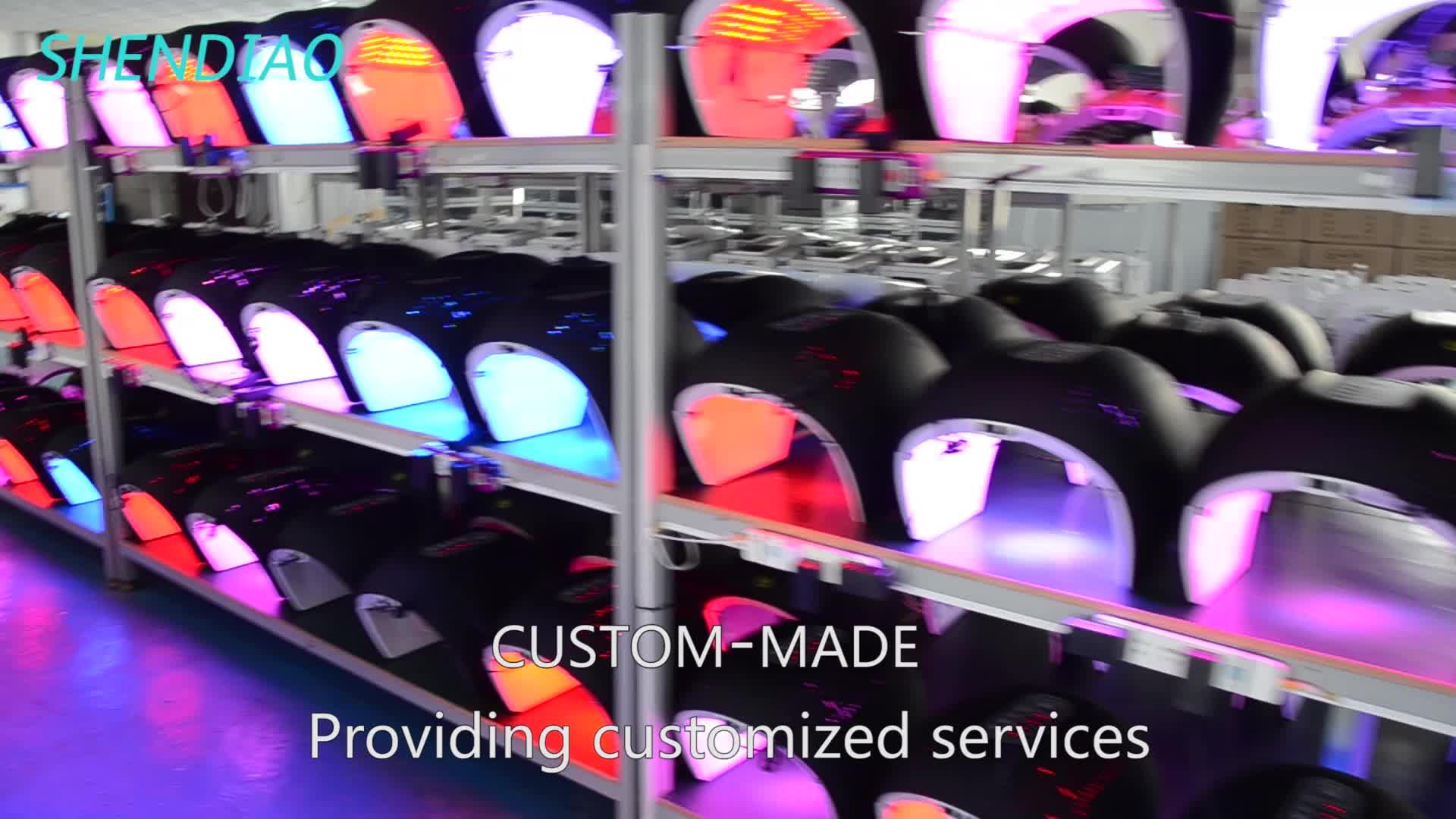 La migliore vendita di prodotti macchina di bellezza PDT ha condotto la luce rossa faccia terapia lontano infrarosso