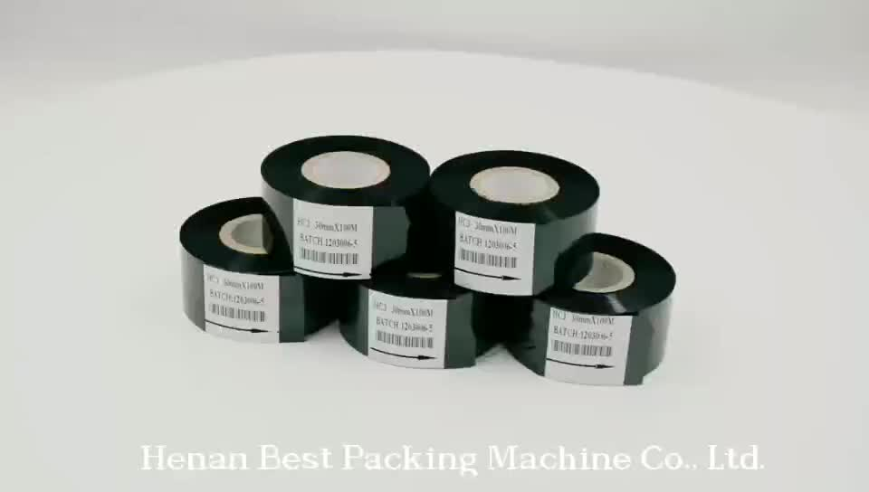 30mm 120M printer carton tape batch expiry handheld online date machine coding foil stamping hot stamp ribbon
