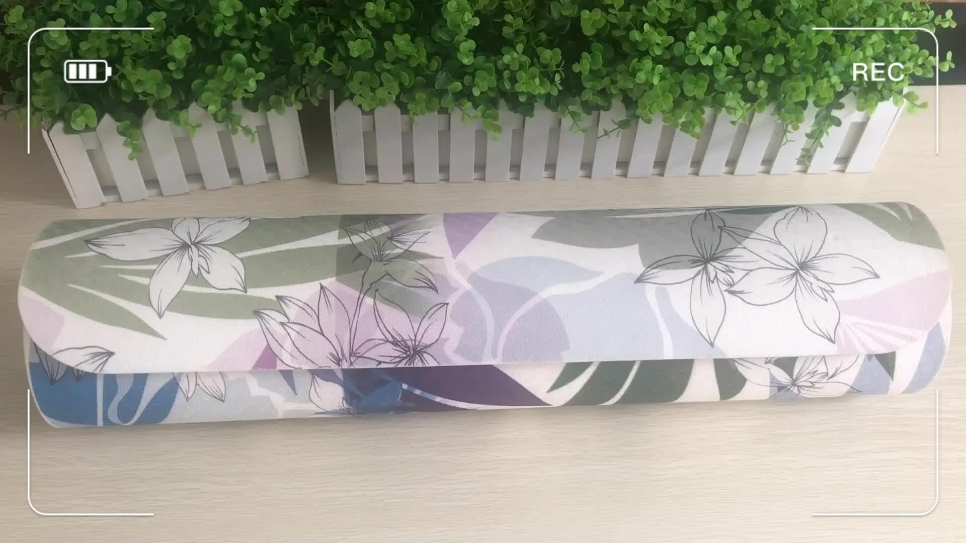 צבעוני עיצוב מותאם אישית הדפסת TPE יוגה מחצלת אורגני