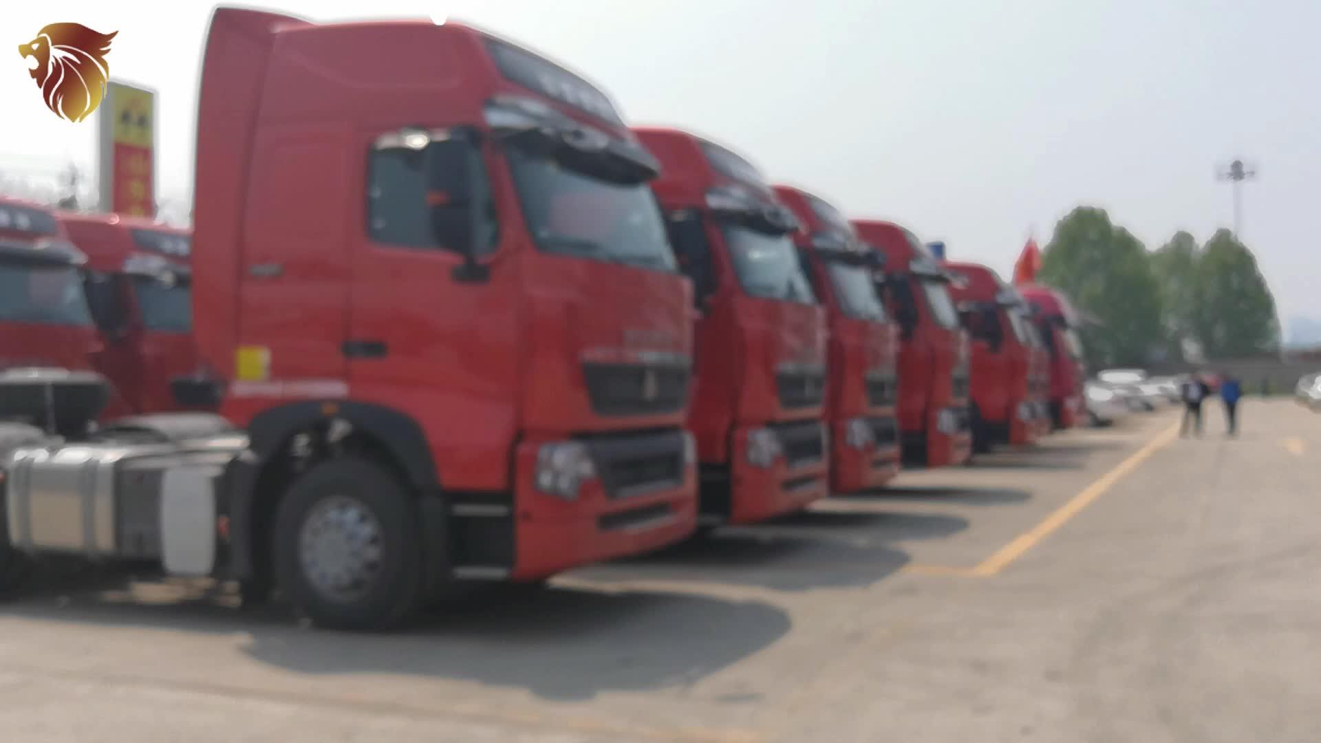 HYUAN HOWO yeni ağır 10 wheeler römork kafa 6x4 4x2 420hp HOWO traktör kamyon için satış