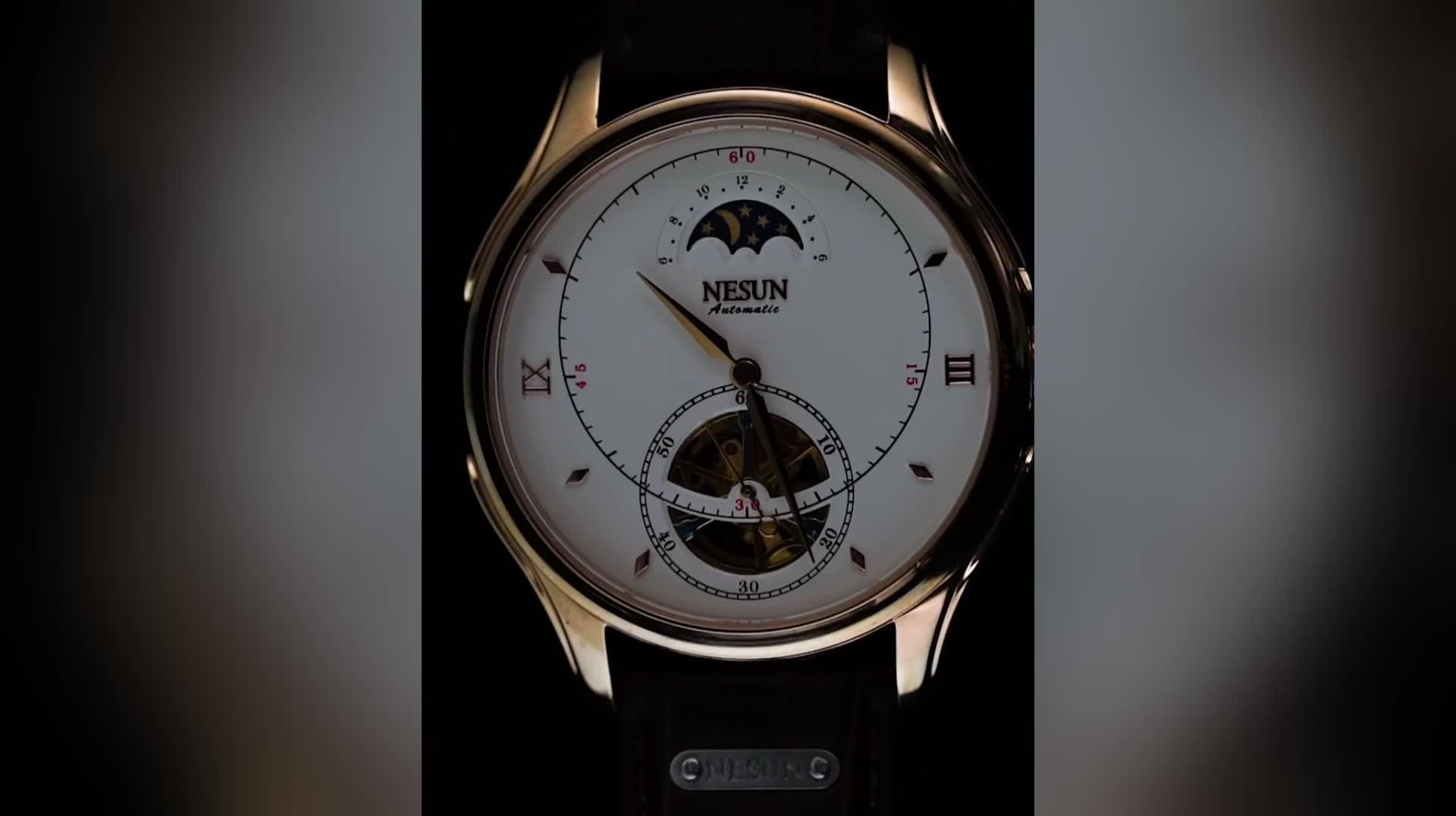 יוקרה מותג אוטומטי מכאני תנועת נירוסטה באיכות גבוהה שעונים לגברים