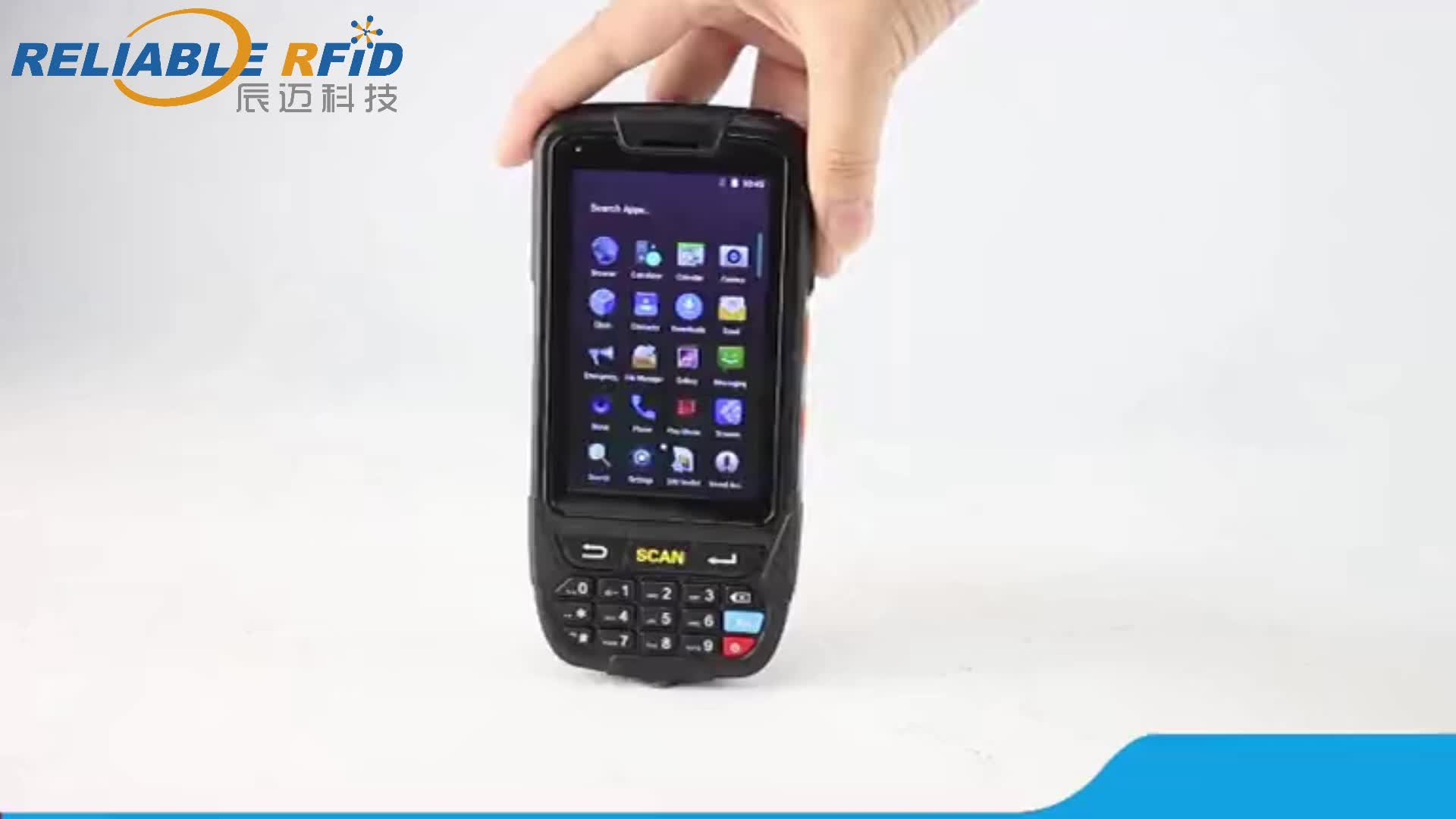 Reliablerfid  Cheap Android 8.1 4G WiFi Bluetooth GPS NFC Handheld Terminal 1D Barcode Scanner PDAs