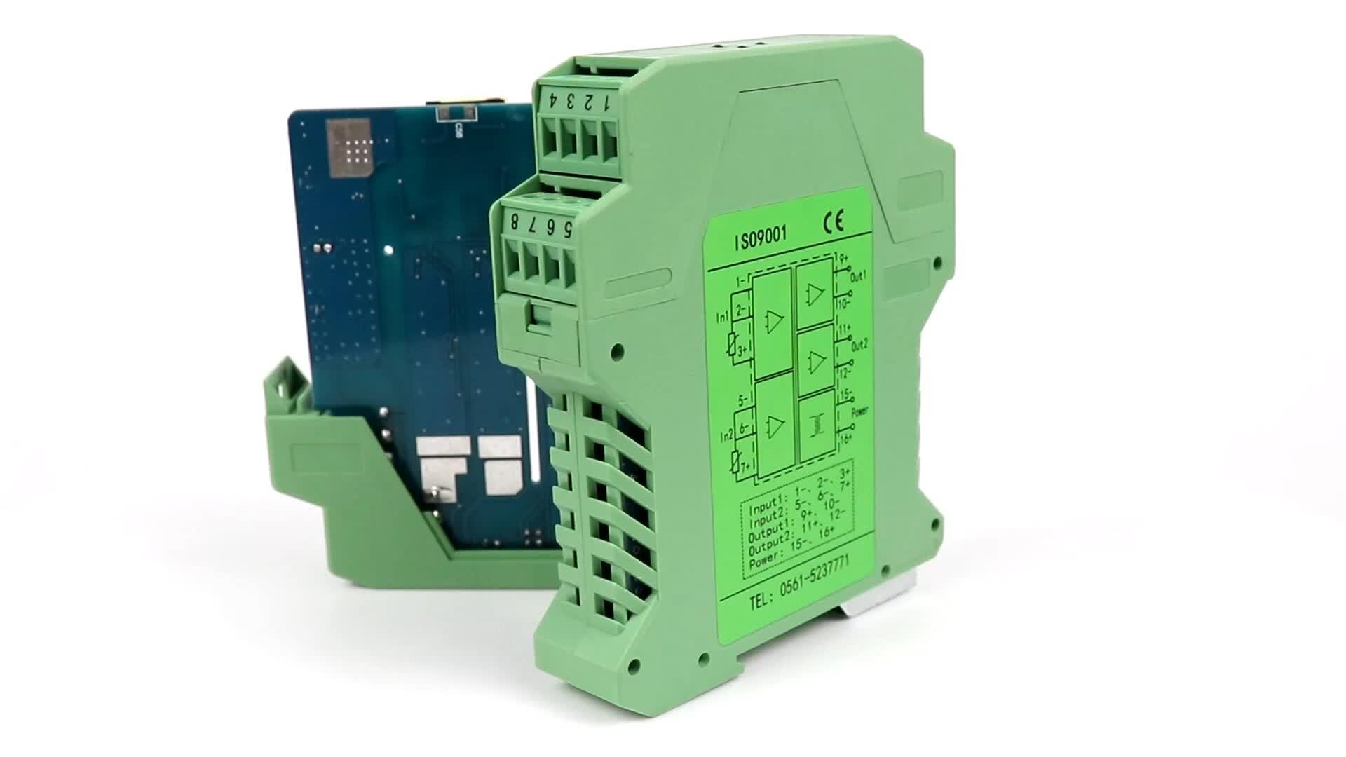 Signal analogique 0-10v 4 20ma sortie résistance thermique cu50 pt100 transmetteur de température isolateur de signal