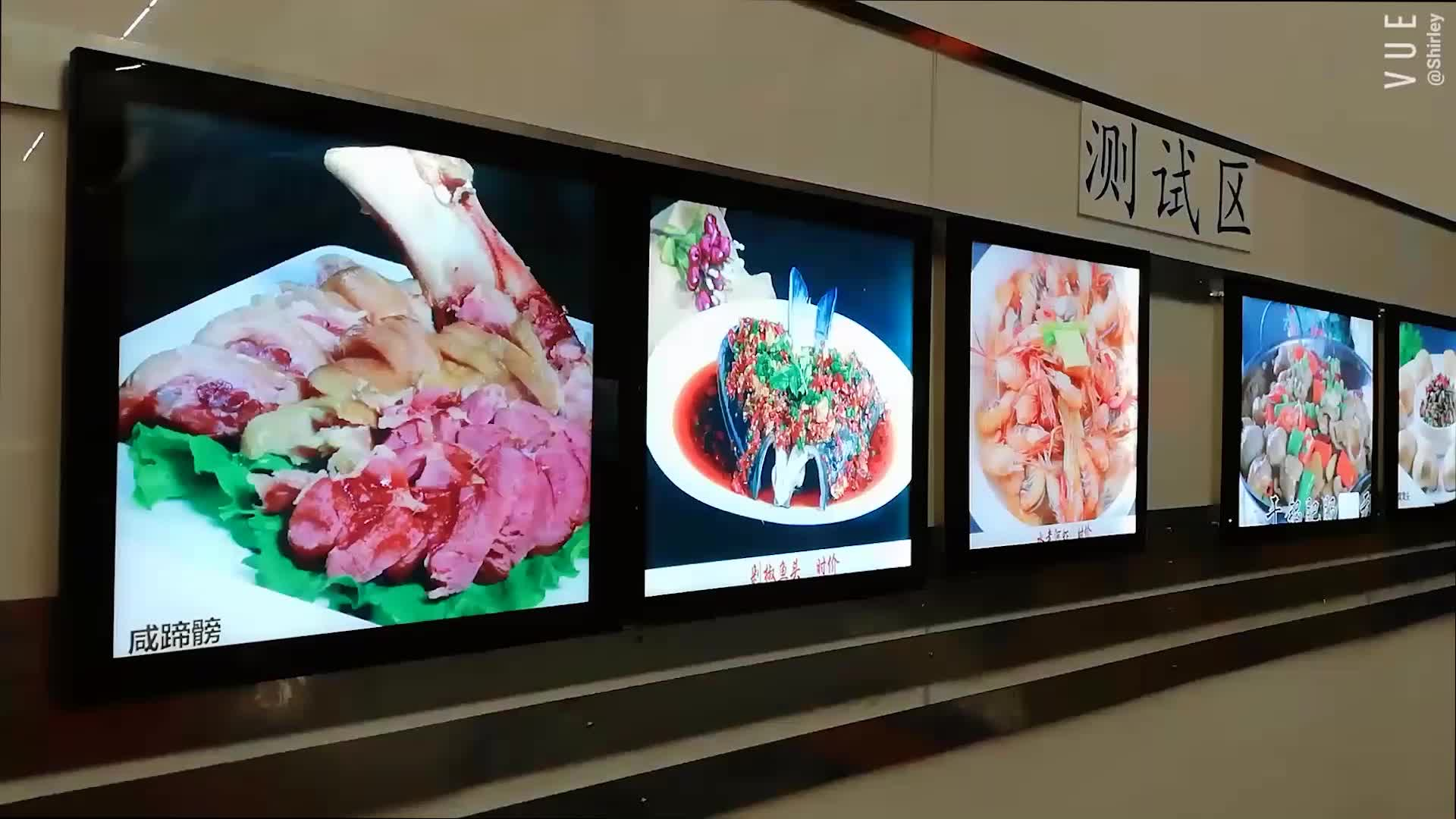 Edgelight foto lichtbak led licht horloge doos menu reclame lichtbak