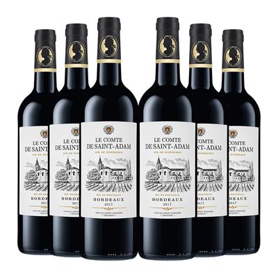【进口】法国原瓶进口AOC送礼礼品红酒拉蒙圣亚当干红葡萄酒整箱