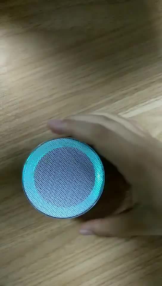 Aluminium A10 Wireless Speakers Outdoor Portable Mini Speaker With LED Lights Support TF/FM Pocket Size Speaker