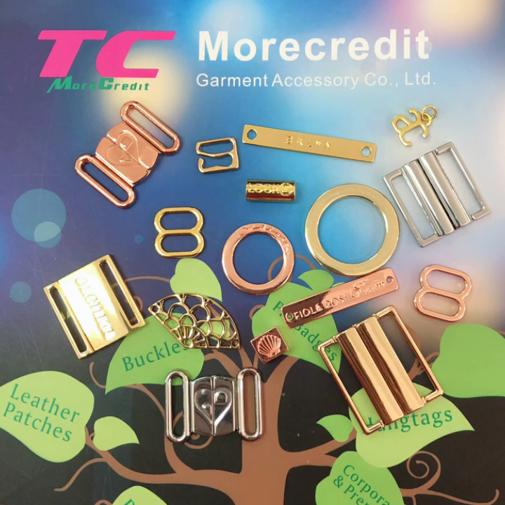 Morecredit Existing Mold Non Faded Metal Swimwear Bra Hook Straps Clips Accessories For Lingerie