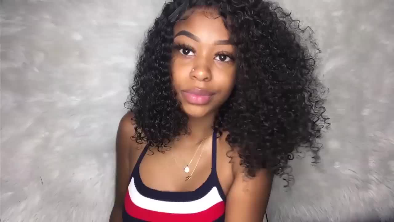 Hot Sell Real Brazilian 4C Afro Kinky Curly Human Hair Weave