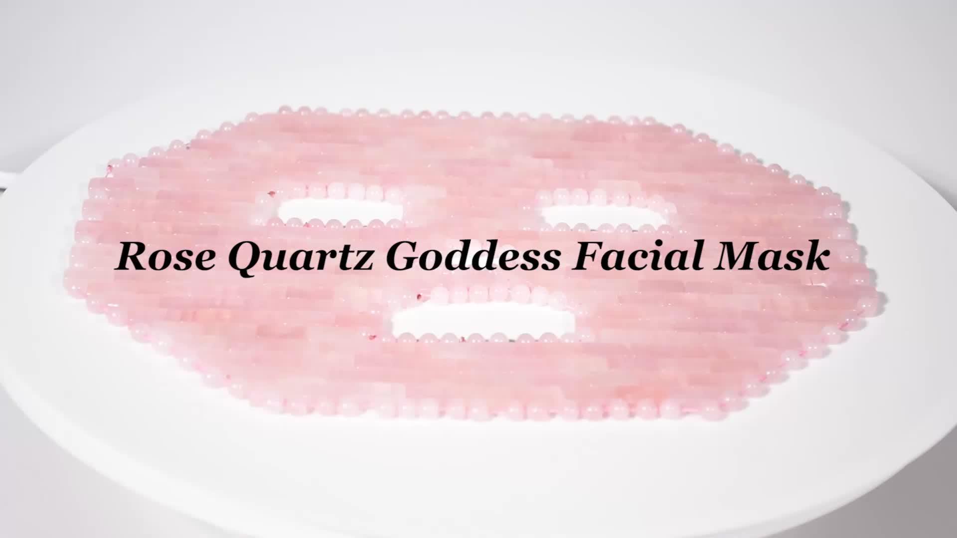 2019 populaire améthyste masque pour les yeux masque de Jade pour les yeux Rose Quartz masque de guérison pour la beauté