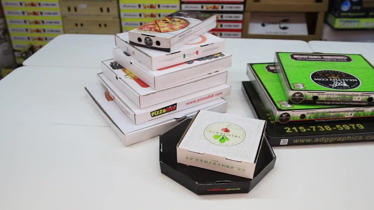 Factory Price Customized Design Flexo Printing Guaranteed Quality Safe Recyclable Pizza Box