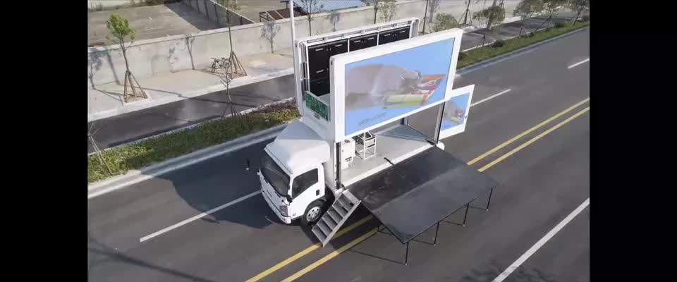 LED mobile truck advertising truck, led screen car advertising, full color truck led display