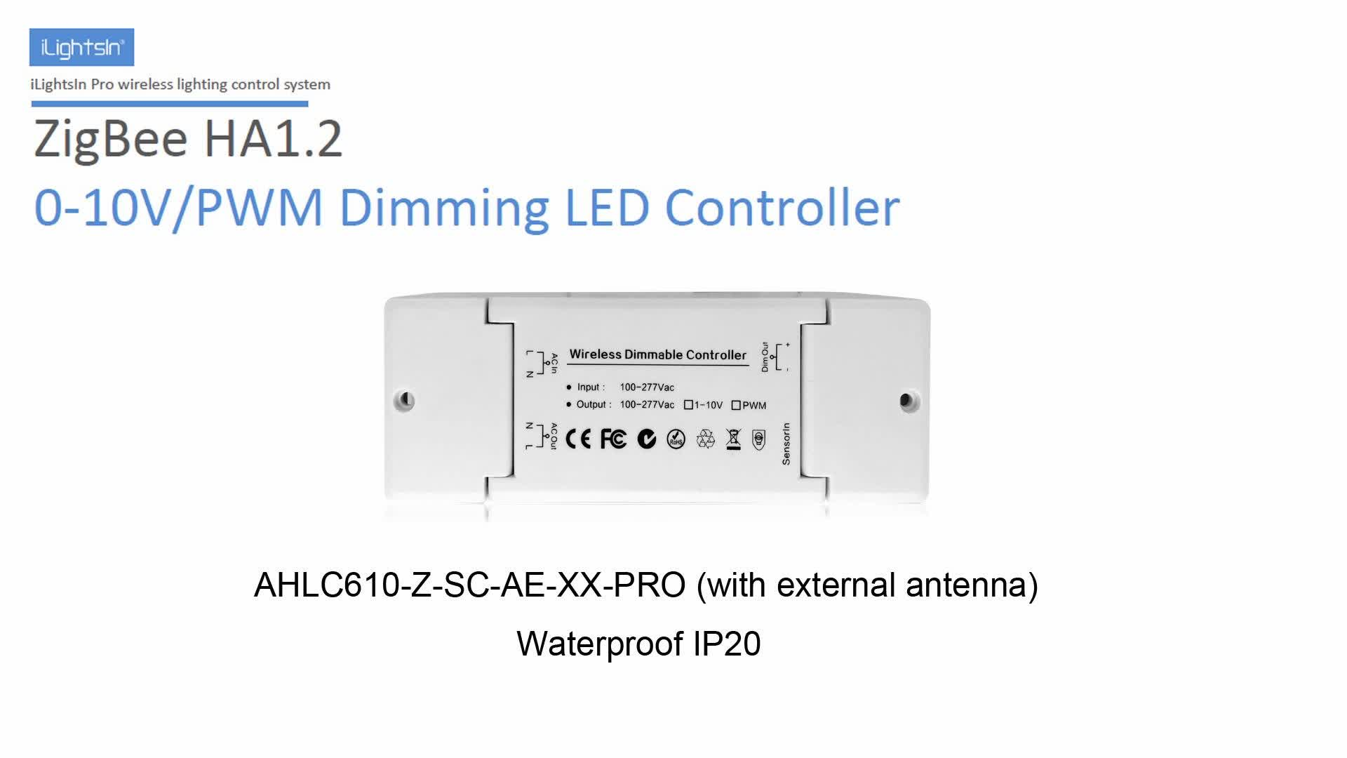 zigbee 0-10v pwm wireless remote control programmable automatic led light dimmer controller