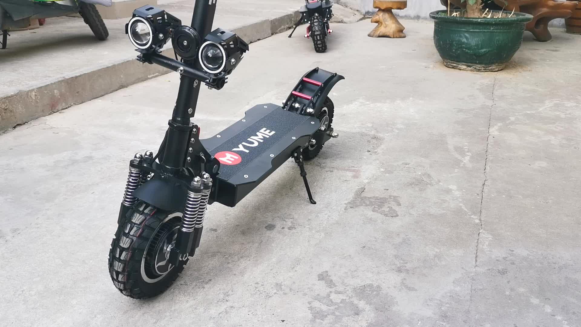 دراجة نارية YUME ثنائية سكوتر بموتور كهربائي للبالغين بقوة 2000 واط بإطار عريض
