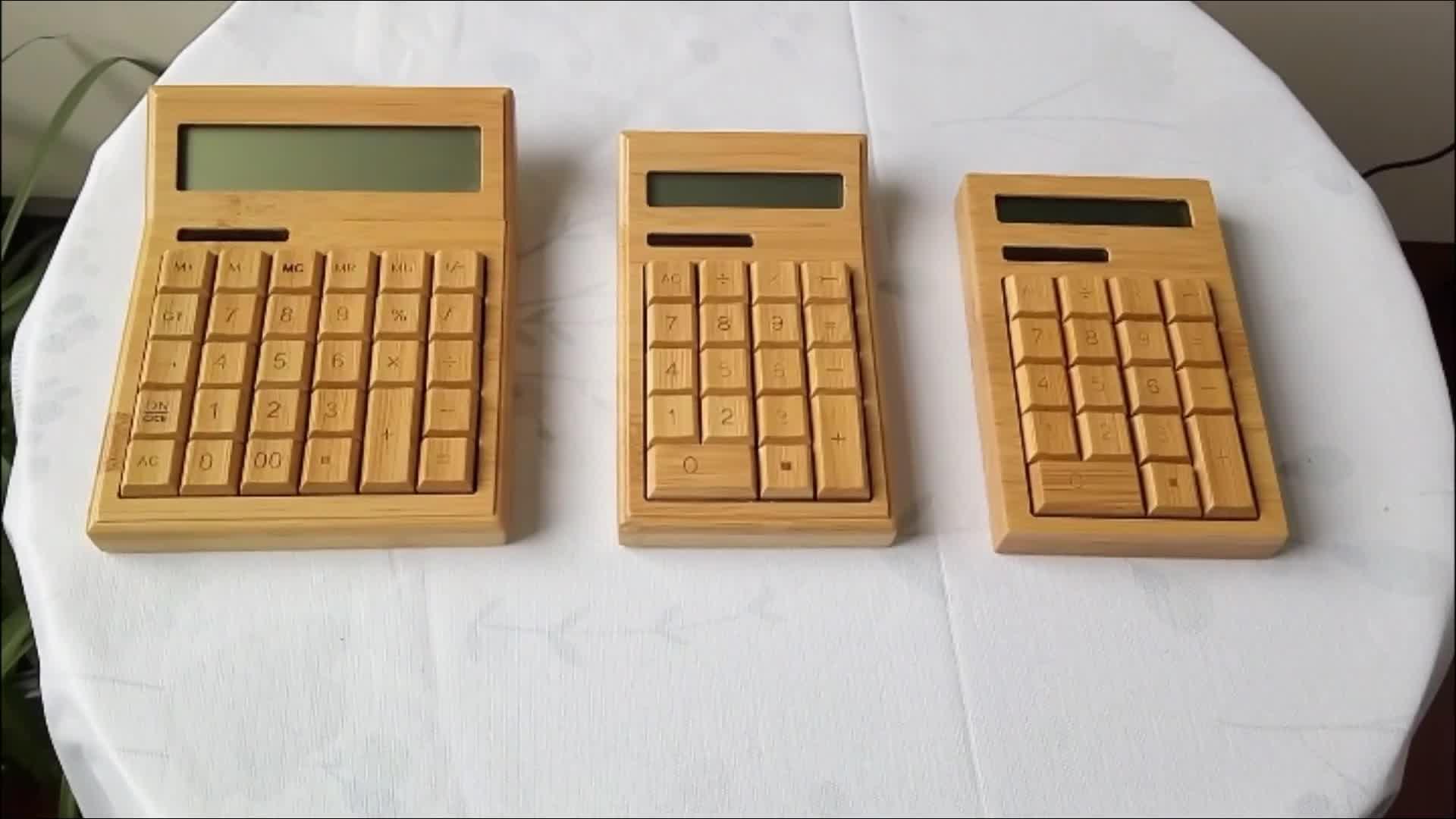 12-stellige LCD-Anzeige Bambus Multi funktionalen benutzerdefinierten wissenschaftlichen Bürger Solarrechner