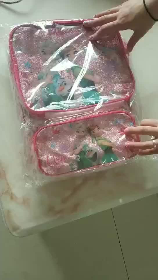 infant toddler frozen backpack lunch& pencil bag baby 3pcs primary school bag set