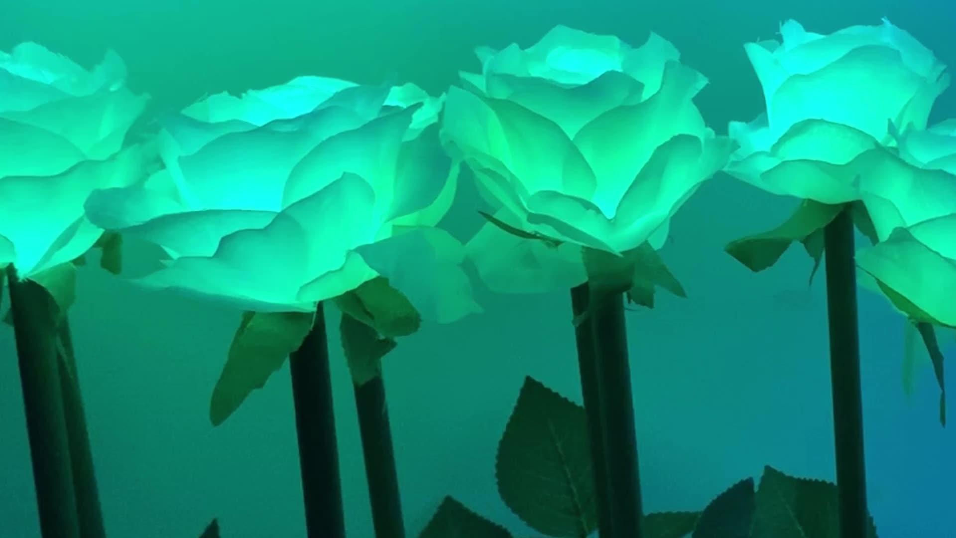 Nueva tecnología 2020 evento de Navidad decoración puede hacer cualquier efecto led DMX programable de luces de decoración rosa artificial flor